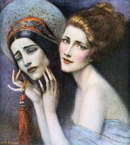 mujer con máscaras Wladyslaw Theodor Benda